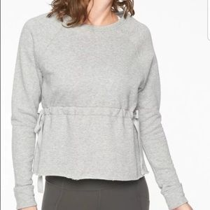 Athleta Grey Studio Cinch Crewneck Sweatshirt